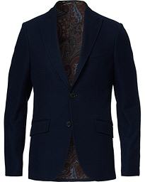 Etro Textured Jersey Blazer Dark Blue
