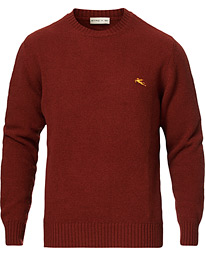Etro Virgin Wool Crew Neck Sweater Rust