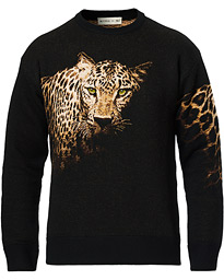 Etro Jacquard Gepard Knitted Sweater Dark Brown