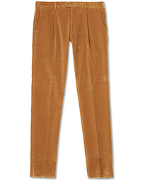 Etro Pleated Corduroy Trousers Khaki