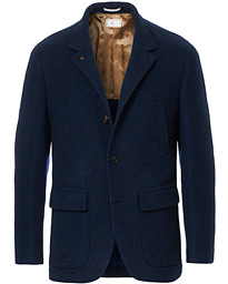 Brunello Cucinelli Pure Cashmere City Jacket Dark Blue
