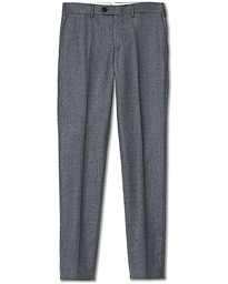 Brunello Cucinelli Slim Fit Super 120s Flannel Trousers Grey Melange