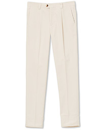 Brunello Cucinelli Slim Fit Corduroy Trousers Winter White