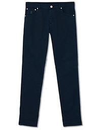 Brunello Cucinelli Skinny Fit 5-Pocket Twill Pants Navy