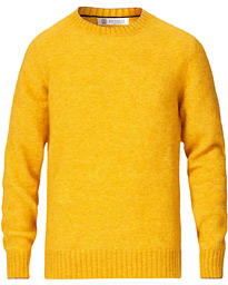 Brunello Cucinelli Soft Mohair Crew Neck Sweater Yellow