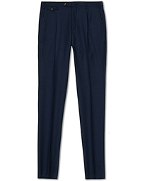 PT01 Gentleman Fit Pleated Flannel Trousers Dark Blue