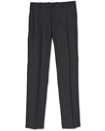 Incotex Urban Traveller Comfort Flannel Trousers Grey Melange