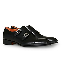 Blake Double Monk  Black Calf