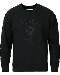 Tiger of Sweden Jeans Zoab Logo Crew Neck Sweatshirt Black