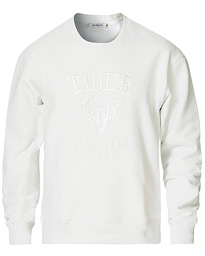 Tiger of Sweden Jeans Zoab Logo Crew Neck Sweatshirt White