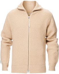 Tiger of Sweden Nyman Ribbed Full Zip Sand