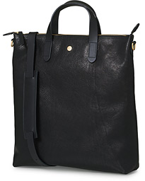 M/S Leather Shopping Bag Black