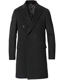 Oscar Jacobson Sebastian Wool/Cashmere Double Breasted Coat Grey
