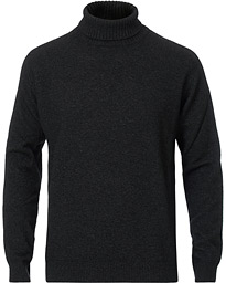 Oscar Jacobson Salim Wool/Cashmere Rollneck Charcoal
