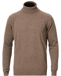 Oscar Jacobson Salim Wool/Cashmere Rollneck Brown