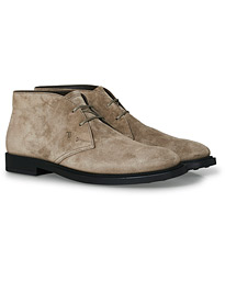 Polacco Desert Boot Light Grey Suede
