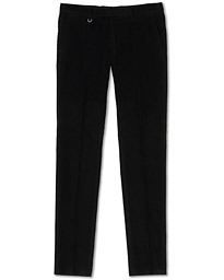 Z Zegna Slim Fit Cotton-Corduroy Trousers Black