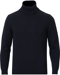 Virgin Merino Wool Rollneck Navy