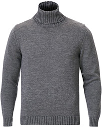 Virgin Merino Wool Rollneck Grey Melange