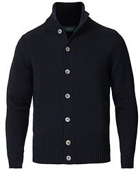 Virgin Merino Wool Chioto Cardigan Navy