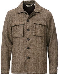 Aspesi Tigre Tweed Jacket Grey Herringbone