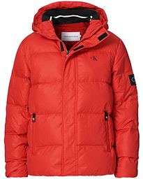 Hooded Down Puffer Jacket Red