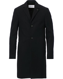 Calvin Klein Wool/Cashmere Coat Black
