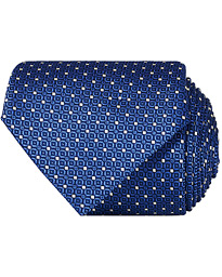Silk Dotted 8 cm Tie Blue