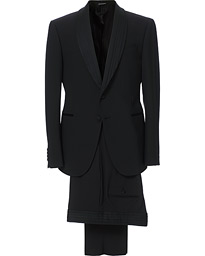 Slim Fit Virgon Wool Shawl Collar Tuxedo Black