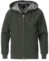 Structured Full-Zip Hoodie Thyme Green