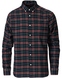 GANT Regular Fit Flannel Check Shirt Mahogany Red