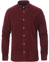 Slim Fit Corduroy Shirt Port Red