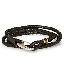 Leather Wrap Bracelet Brown