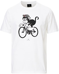 PS Paul Smith Monkey on A Bike Tee White