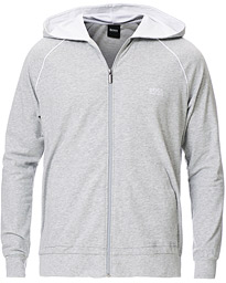 BOSS Mix & Match Full Zip Hoodie Light Grey