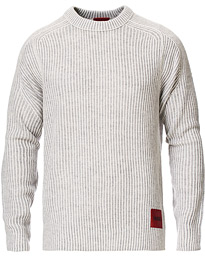 Shair Structured Crew Neck Sweater Light Grey