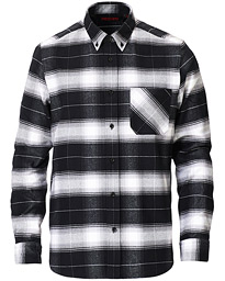 HUGO Ermann Checked Shirt Black
