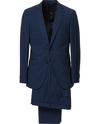 BOSS Novan/Ben Traceable Wool Pinstripe Suit Navy