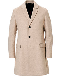 HUGO Migor Wool Coat Light Beige