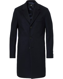 BOSS Nye Wool/Cashmere Coat Dark Blue