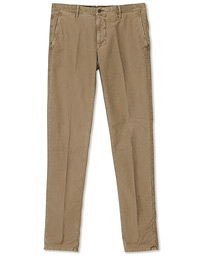 Slim Fit Garment Dyed Washed Slacks Beige