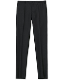 Incotex Slim Fit Super 120s Flannel Trousers Charcoal