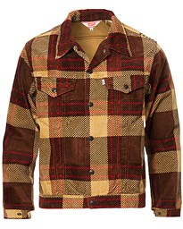 Levi's Vintage Clothing Plaid Corduroy Trucket Jacket Oxblood Plaid Purple