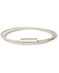 LE GRAMME Double Cable Bracelet Brushed Sterling Silver 21g