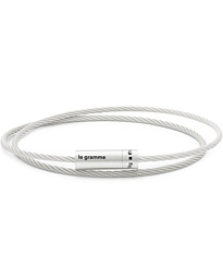 Double Cable Bracelet Polished Sterling Silver 9g