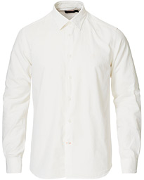 Morris Cedric Baby Cord Button Under Shirt Off White