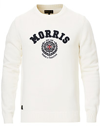 Morris Wren Knitted O-neck Off White