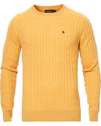 Morris Merino Cable O-Neck Yellow