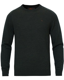 Morris Merino Crew Neck Dark Green