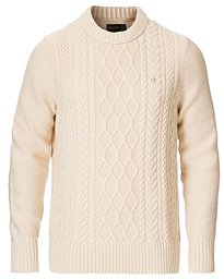Morris Riely Cable O-Neck Off White